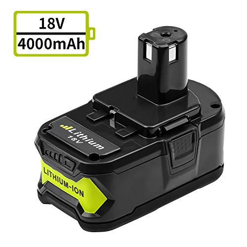 P102 for Ryobi Lithium 18v Battery 4.0Ah Replacement One Plus P103 P104 P107 P108 High Capacity Cordless Drill Batteries