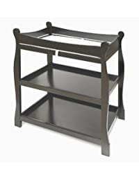 Black Sleigh Style Changing Table by Badger Basket BOBEBE Online Baby Store From New York to Miami and Los Angeles