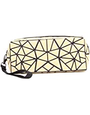 Geometric Luminous Purses - Lattice Wristlets Clutches Foldable Handbags Cell Phone Purses Make-up Bags for Women