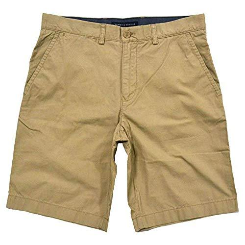 (Tommy Hilfiger Mens Flat Front Shorts (42, Incense))