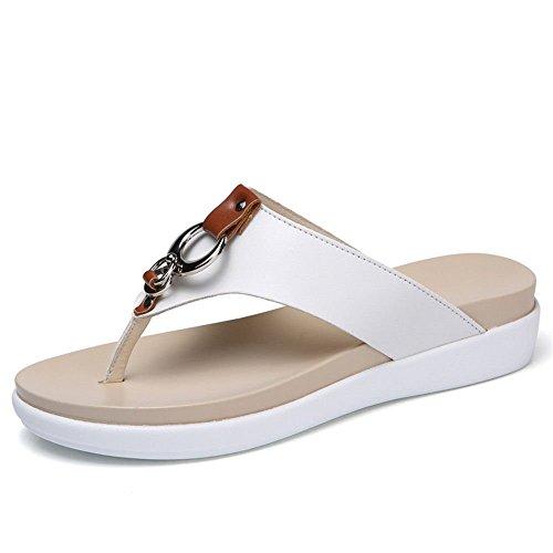 DE de 44 Shoes Zapatos 91 m Zapatos Color para Zapatillas Blanco; 106 a Cuero 42 Playa para 68 XXM XXM Calzado Mujer Grueso Antideslizantes y vq7v6w