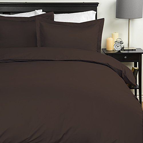 Sweet Home Collection Duvet Cover 1800 Thread Count 4 Pc Sheet Set Queen Chocolate 7 Piece