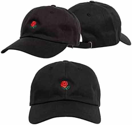 892e2c2d Litetao Men Women Caps, Baseball Caps, Embroidery Rose Boys Girls Snapback  Hip Hop Flat