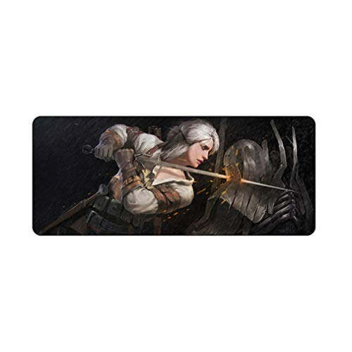HTACSA 70X30Cm DIY Customize Rubber Mouse Pad Anti-Slip Mice Mat Pattern Computer Mousepad Gaming The Witcher 3 Wild Hunt Mouse Mat