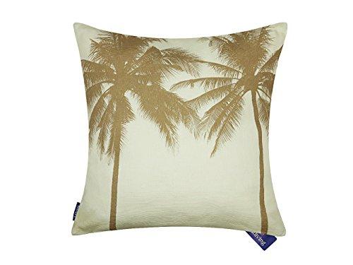 (Aitliving Toss Pillow Cover Tropical Coconut Tree Island Beach Cushion Pillow Case Yellow 46X46cm/18