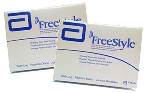 amazon com freestyle glucose log book 2 books 32 weeks each