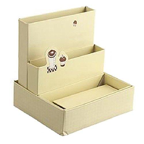 Polytree DIY Paper Board Storage Box Desk Decor Stationery Organizer Makeup Cosmetic Box