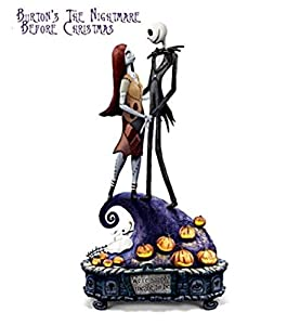 The Nightmare Before Christmas Simply Meant To Be Jack And Sally Musical Figurine by The Bradford Exchange