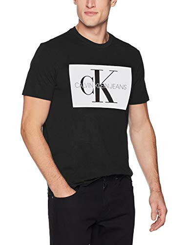 Calvin Klein Men's Monogram Logo T-Shirt, Black, Small for sale  Delivered anywhere in Canada