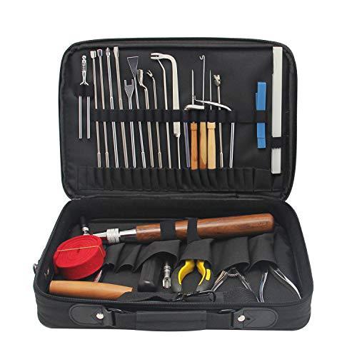 CGOLDENWALL NEW 39 PCS Professional Piano Tuning Kit Piano Tools Piano Tuning Tool Kit Tuning Maintenance Tools