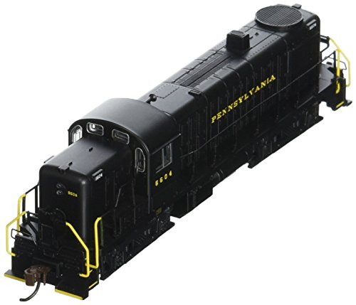 Alco Diesel Locomotives - Bachmann Industries Alco RS-3 Locomotive PRR 5604 (Black with Yellow Lettering) N Scale - DCC on Board