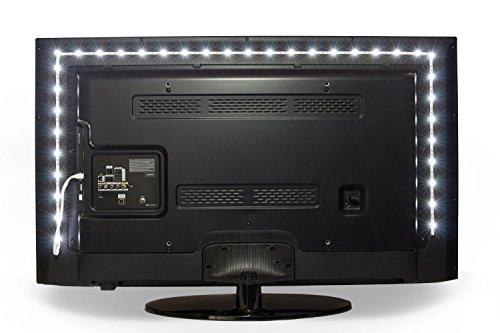 Luminoodle USB Bias Lighting   Large   The Longest USB TV Backlight on the Market - USB Powered LED Bias Lighting for TV Ambient Lighting - Background Lighting for TV