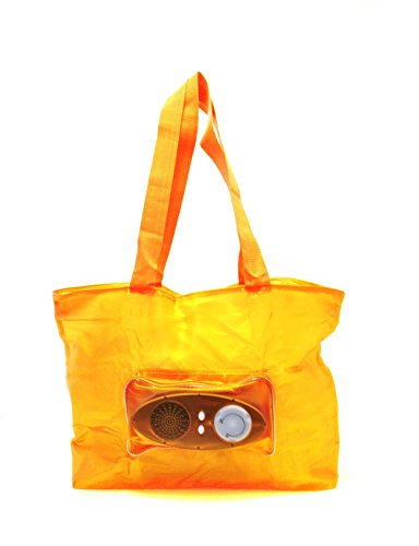 Outlook Design VH30100050 Music Bag Borsa da Spiaggia Impermeabile con Radio, Arancio