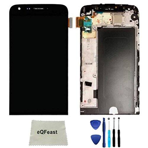 eQFeast Black LCD Display Touch Screen Digitizer with Frame for LG G5 H840 H850 H820 H831 VS987 - Replacement Lg Lcd Screen