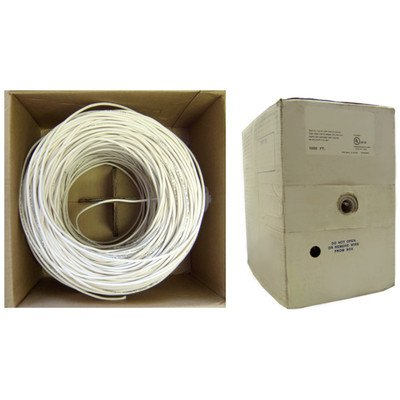 1000ftc Plenum White Security Cablec 16/2 Strandedc CMP ( 2 PACK ) BY NETCNA