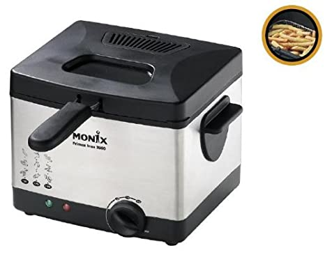 Monix FriMax Inox 2000, Negro, Acero inoxidable - Freidora ...