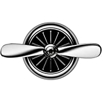 Creative Airplane Shaped Car Fragrance Diffuser Vent Clip Air Freshener Essential Oil Diffuser Aromatherapy Air Purifier Car Accessories Decoration Ornament (Silver)