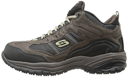 Skechers Men's Work Relaxed Fit Soft Stride Canopy Comp Toe Shoe, Brown/Black - 11.5 3E US by Skechers (Image #5)