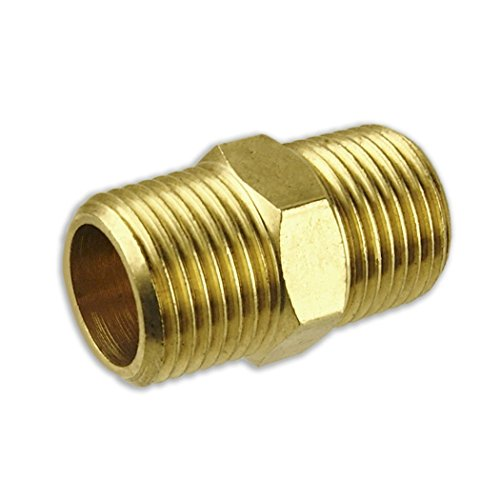 Solid Brass Pipe Fitting , Hex Nipple, 3/4