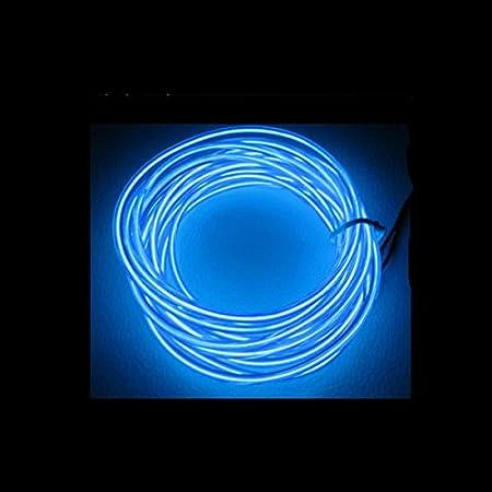 1/3/5M Auto Licht EL Ambientebeleuchtung Innenraumbeleuchtung Lichtleiste, Neon Beleuchtung Innenbeleuchtung Mit 12V Inventer fuer Auto (5M, Weiß ) GUANGGU