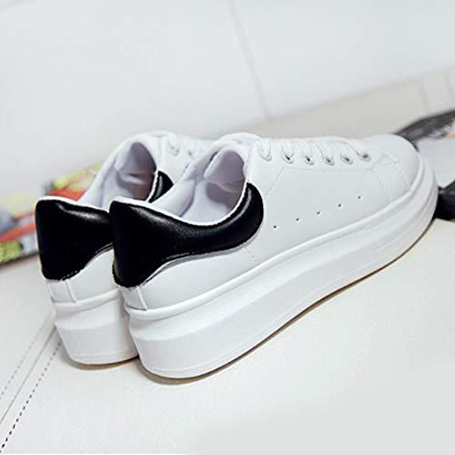 Stringate Bianco Sneaker Ginnastica Corsa Ragazze Da Donna Street Gtagain Scarpe Piattaforma Moda Nero Dance Studenti Skateboard Traspirante WwgSYp0qn