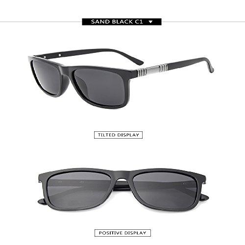 del gafas clásico de dise hombres del o C1 conductor sol las metal de Gafas borde los del de polarizadas de BING BZwqUaY5K