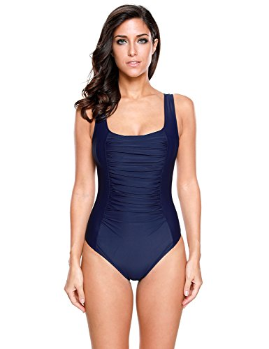 LookbookStore Womens Ruched Swimsuit Bathing