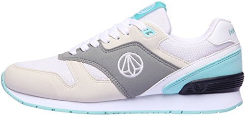 Paperplanes-1328 Unisex Casual Lace Up All-Day Walking Sneakers Shoes Gray Mint euwEud3