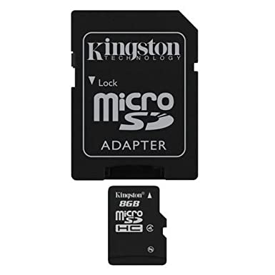 Professional Kingston MicroSDHC 8GB (8 Gigabyte) Card for Garmin Rumor Touch GPS with custom formatting and Standard SD Adapter. (SDHC Class 4 Certified)