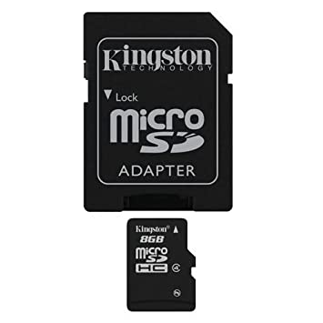 Professional Kingston MicroSDHC 8GB (8 Gigabyte) Card for Samsung M520 (SPH-M520) Phone with custom formatting and Standard SD Adapter. (SDHC Class 4 Certified)