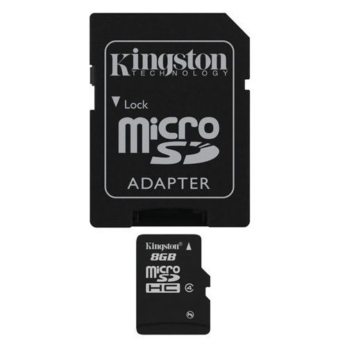 Professional Kingston MicroSDHC 8GB (8 Gigabyte) Card for BlackBerry Pearl 9100 (RIM) with custom formatting and Standard SD Adapter. (SDHC Class 4 Certified) ()