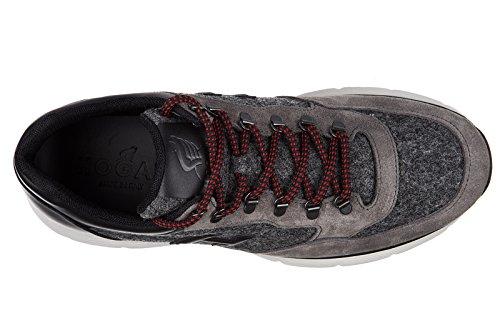 Hogan scarpe sneakers uomo in pelle nuove 20.15 trekking grigio