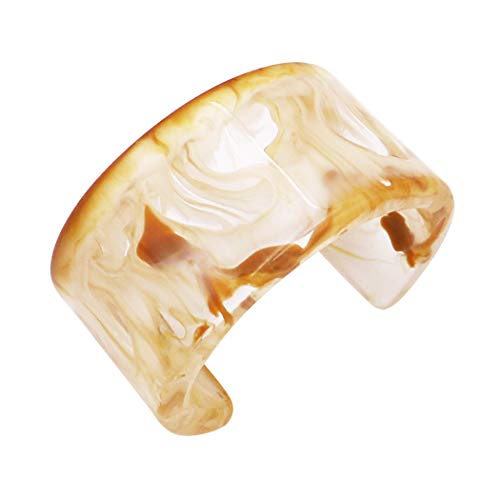 Rosemarie Collections Women's Trendy Lucite Wide Cuff Bracelet