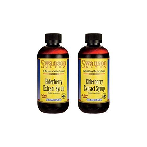 Swanson Elderberry Extract Syrup 8 fl oz Liquid 2 Pack