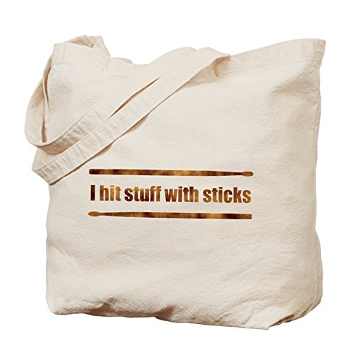 CafePress - Drum Stick - Natural Canvas Tote Bag, Cloth Shopping (Rock Band Drum Bag)