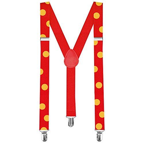 bretelles rouges avec points jaunes pour JUZO SUZUYA perruque de cosplay et costume Tokyo Ghoul Juuzou forme en Y (Bretelles)