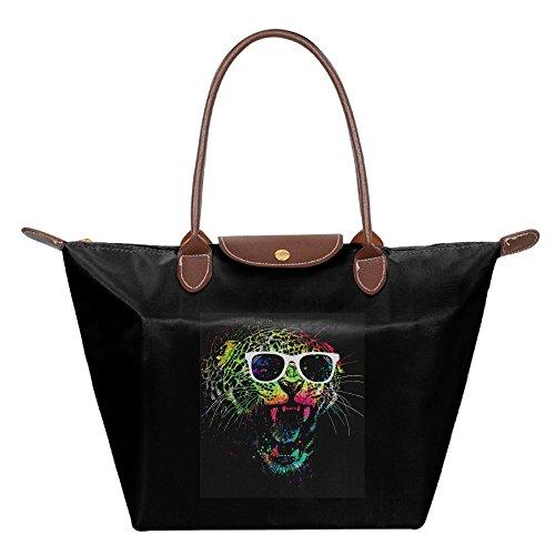 Black Bags Cool Shoulder Tote Handbag Womens Fashion Hobo Bag Beach Panther wOAqv