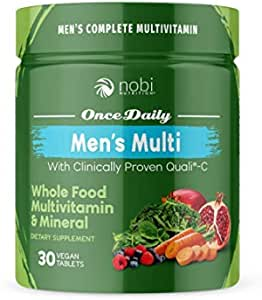 One Daily Multivitamin for Men - with Whole Food Vitamins - Immune Support with Clinically Proven Vitamin C, Vitamin D, Zinc - Premium Vegan Mens Vitamins - Natural Minerals & Extracts
