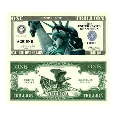 Trillion Dollar Novelty Bill With Bill Protector: Toys & Games