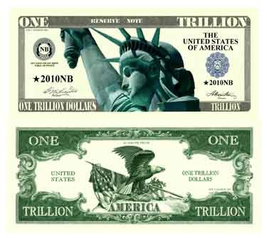 Trillion Dollar Novelty Bill With Bill Protector
