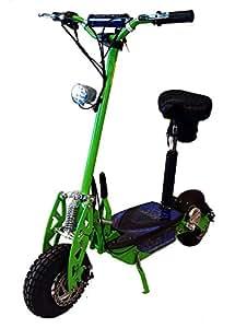 """Super Turbo 1000watt Elite 36v Electric Scooter """"Neon Green"""" (Now includes Econo/Turbo mode button!)"""