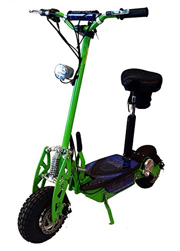 Super Turbo 1000watt Elite 36v Electric Scooter 'Neon Green' (Now includes Econo/Turbo mode button!)