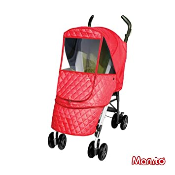 [Manito] Castle Alpha Cover for baby stroller pushchair snow wind sun weather shield (Purple) Totalkids