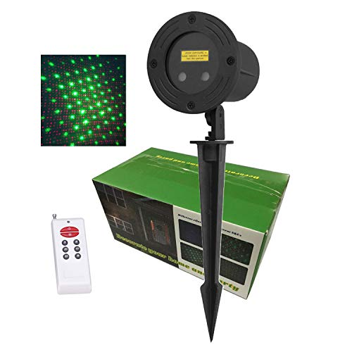 Laser Christmas Lights Outdoor, Motion/Static Snowflakes/Stars Projector Garden Lights LSIKA-Z Aluminum Alloy Christmas Projector Lights Red and Green with RF remote for Party House Holiday Decoration (Lights Allen Christmas)