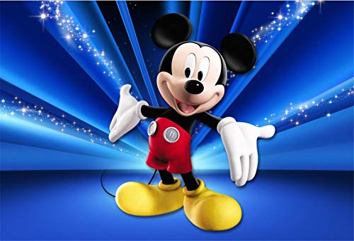 Birthday Background for Photobooth 7x5ft Mickey Mouse Photography