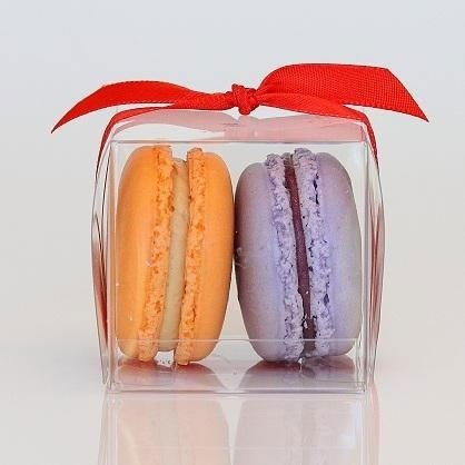 25 Sets of Clear Macaron Boxes for 2 Macarons ($1.00 Per Set of Macaron Box)