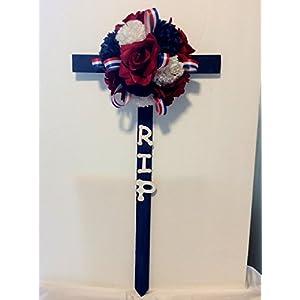 Patriotic Cemetery Flowers, Floral Cross 4