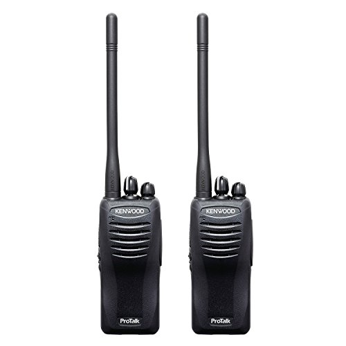 Kenwood TK-2402V16P ProTalk Compact 16 Channel VHF FM Portable Two-Way Radio (Pack of 2), 5 Watts Transmit Power, Pre-set Frequencies 27 (151-159 MHz), Enhanced Audio Quality, Wireless Cloning (Kenwood Store)
