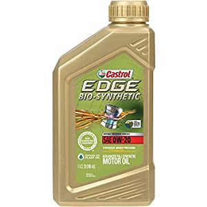 Castrol 06585 EDGE Bio-Synthetic 0W-20 Advanced Full Synthetic Motor Oil, 1 quart, 1 Pack