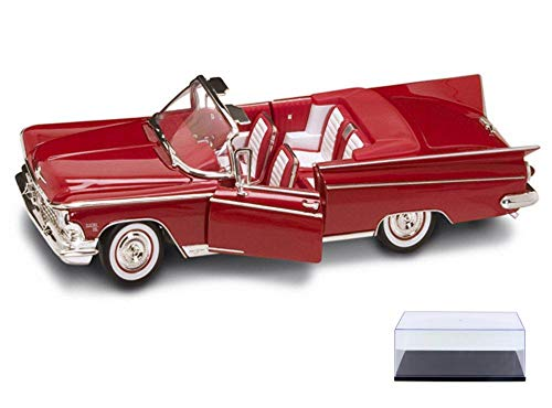 Road Signature Diecast Car & Display Case Package - 1959 Buick Electra 225 Convertible, Red 92598 - 1/18 Scale Diecast Model Toy Car w/Display Case